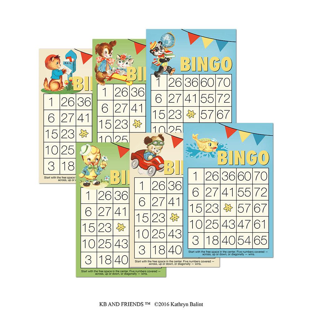 Printable Bingo Cards For Scrapbooking Decorative Bingo Etsy