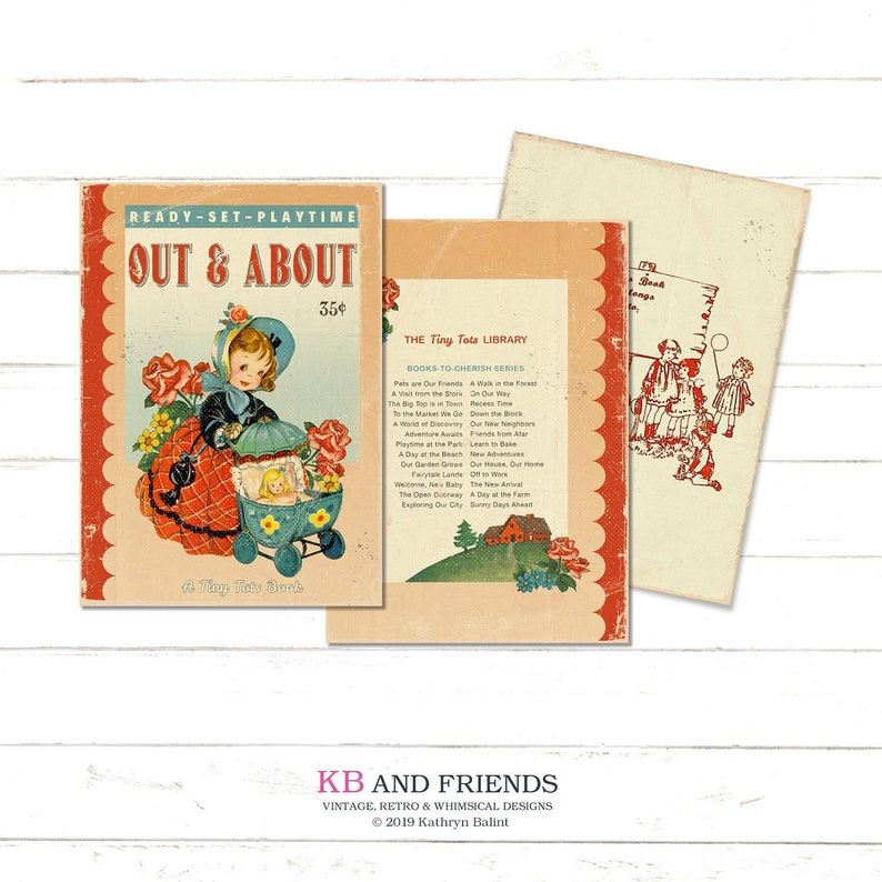 Printable Vintage Children's Book Covers for notebooks image 0