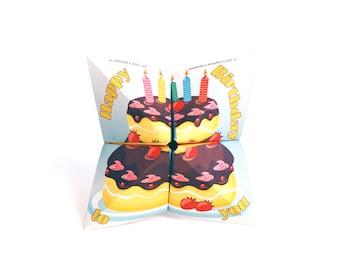 Birthday cootie catcher / printable cootie catcher / printable birthday card / fortune teller / game / toy