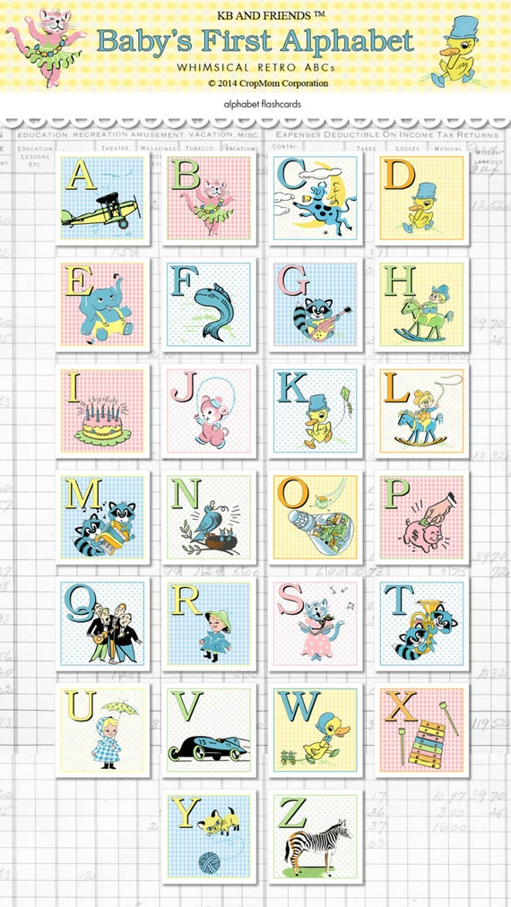 photograph regarding Printable Baby Flash Cards identified as Electronic little one ABC 2\