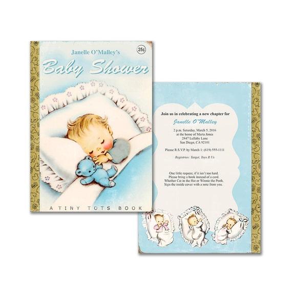 vintage baby book shower invitation diy baby boy printable