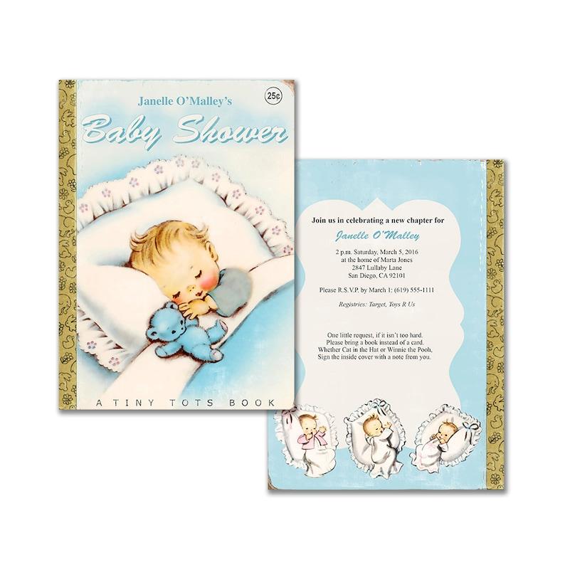 47fc959c3 Vintage baby book shower invitation / DIY baby boy printable | Etsy