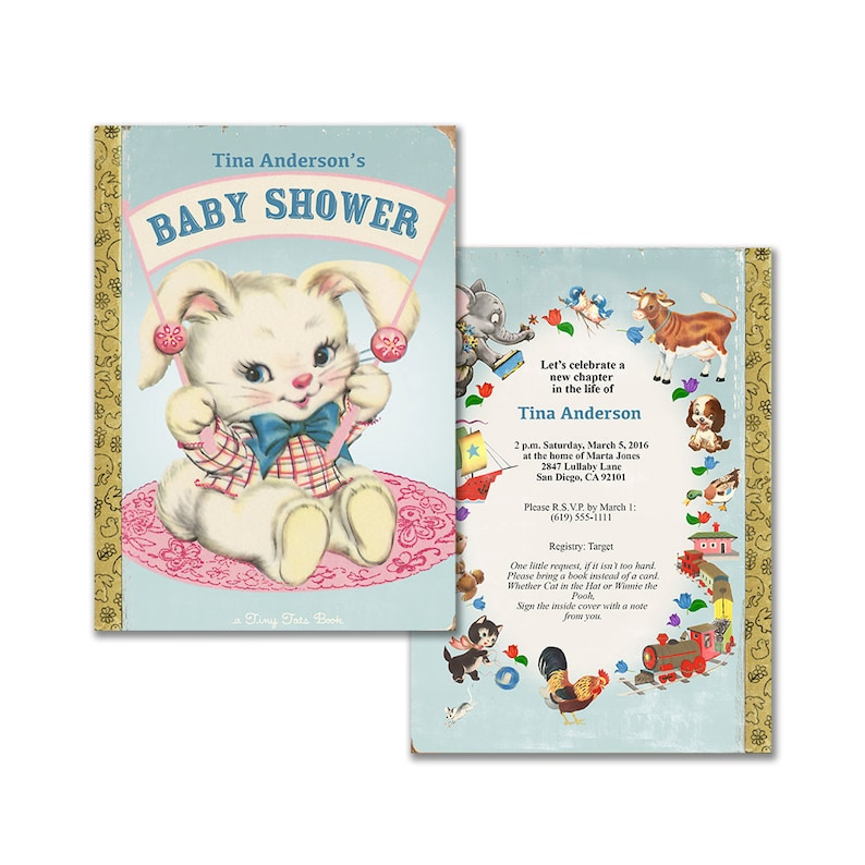 Baby Shower Invitation For Storybook Theme Printable Etsy