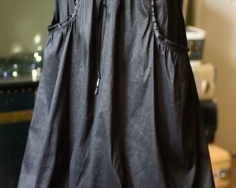 Black Taffeta Bubble Maxi Skirt
