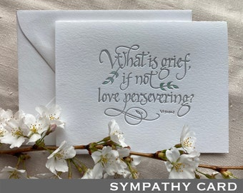 Letterpressed Sympathy Card featuring WandaVision Quote