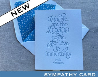 Emily Dickinson Quote Sympathy Card