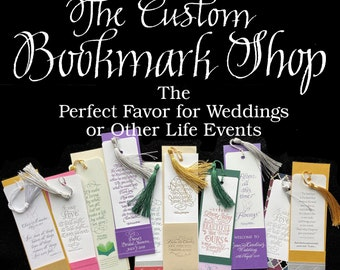 Personalized Bookmarks for your Special Life Event