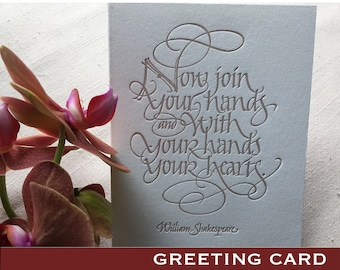 Wedding Card (Letterpressed Calligraphy)