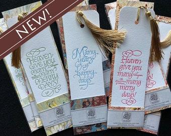 Celebration Letterpressed Shakespeare Bookmarks