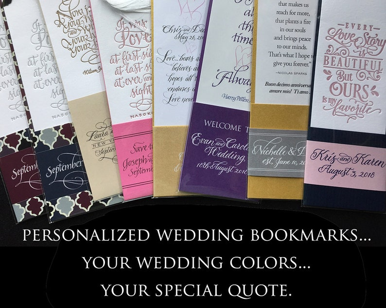 Personalized Bookmark Favors for Weddings and Life image 0