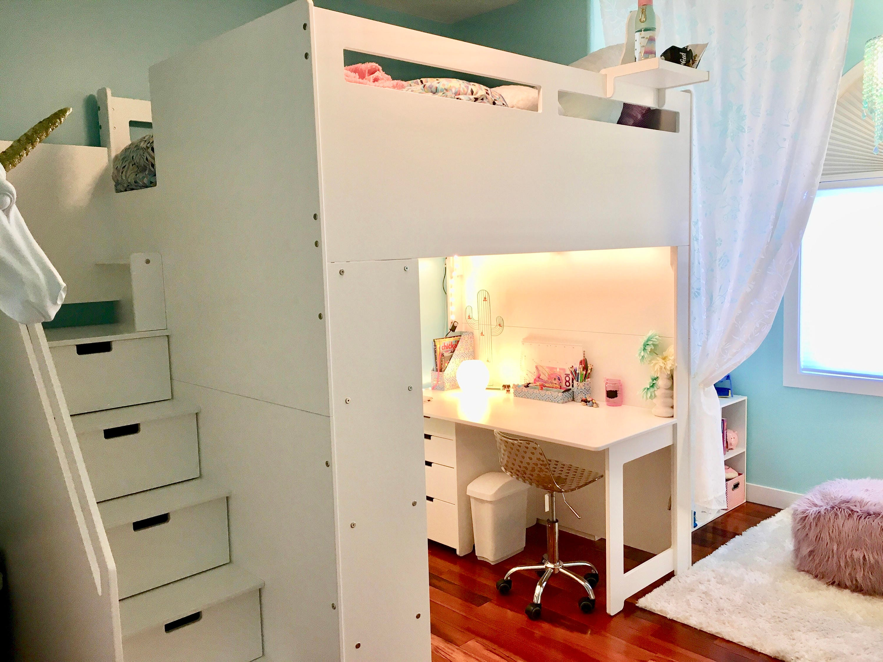 Loft bed with everything added