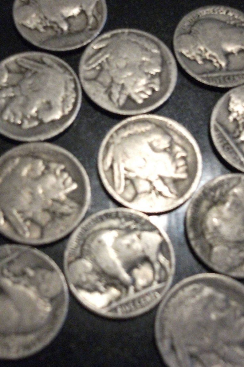Full Date Buffalo Nickel Mixed Date /& Mint 40 Coins