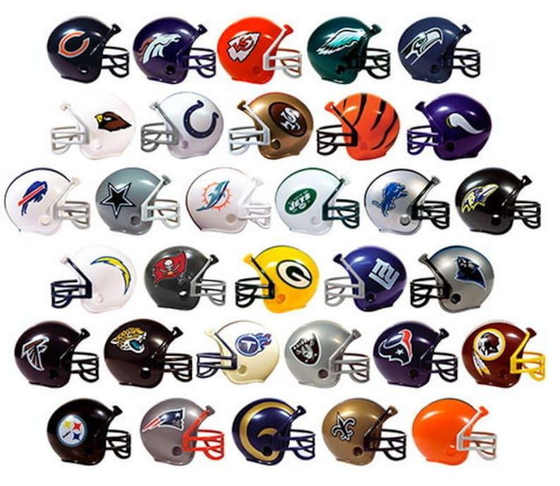 Football Helmet Keychain  CHOOSE TEAM All Teams Available image 0