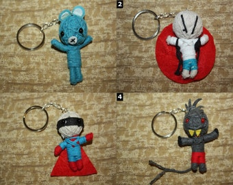 Voodoo Doll Keychain - SELECT ONE - Cute Funny Voo Doo String Dolls