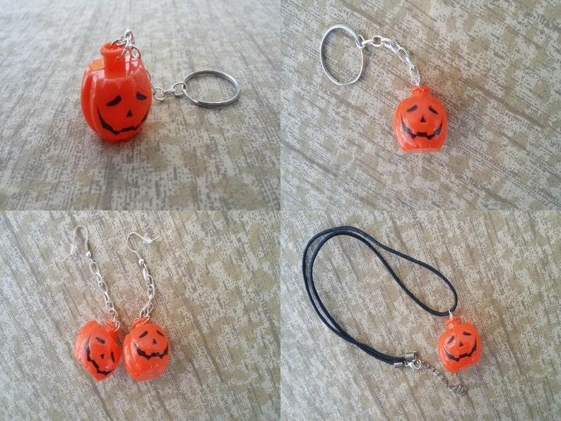 Pumpkin Accessories  Halloween Jack-O-Lantern Necklaces image 0