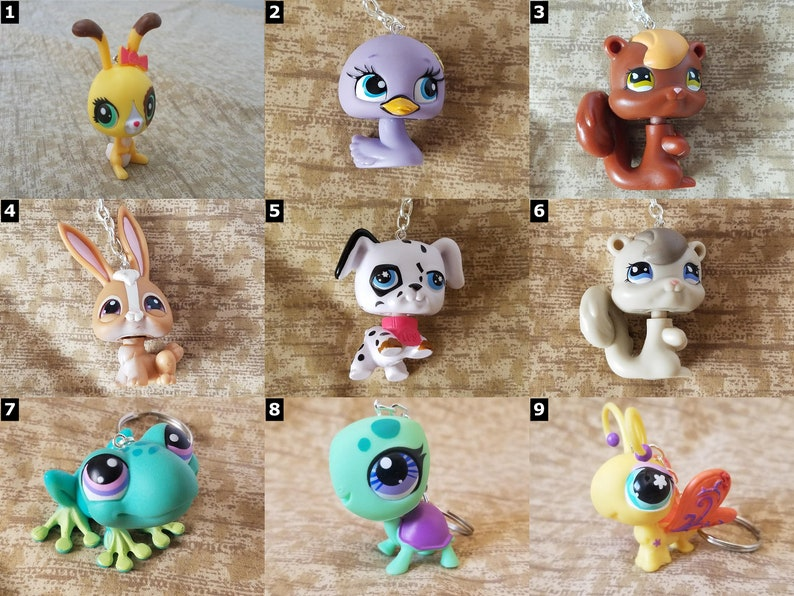 Littlest Pet Shop Animal Keychains  Hasbro LPS  SELECT ONE image 0