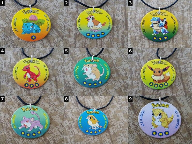 POKEMON GO  Pokemon Necklaces  Pikachu Bulbasaur image 0