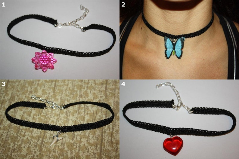 Lace Choker Necklaces  Various Styles: Crown Fairy Wing image 0