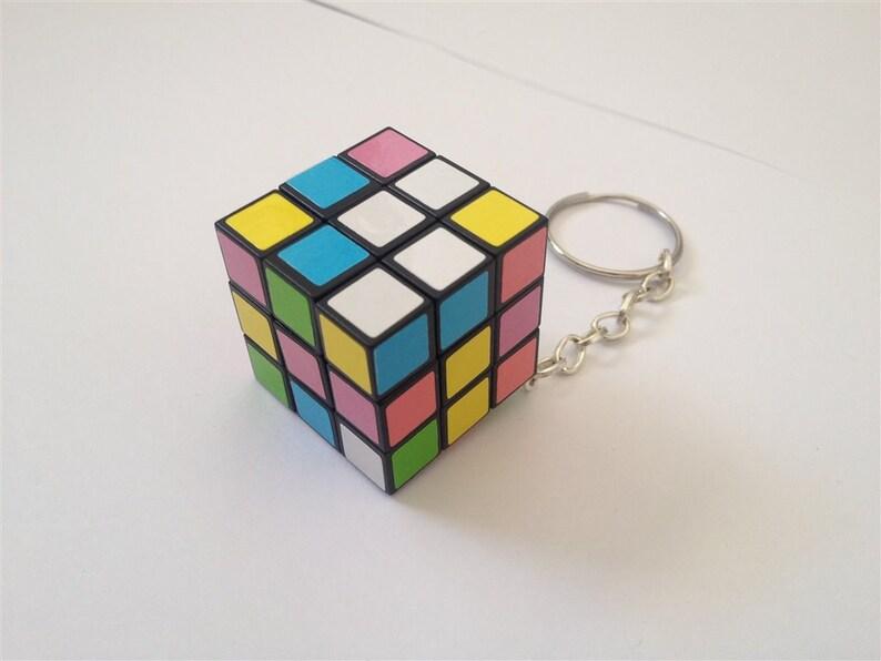 Mini Magic Cube Puzzle Key Chain  Fully Functional image 0