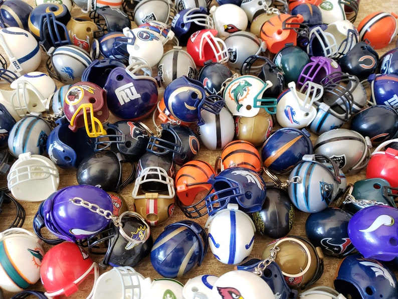 Football Helmet Party Favor Key Chains  Bulk Buy Wholesale image 0