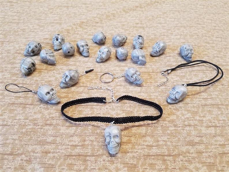 Skull Head Accessories  Halloween Necklaces Earrings image 0