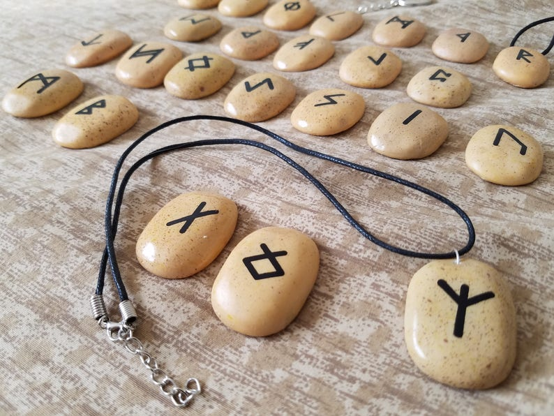 Rune Stone Jewelry  Necklaces Keychains Chokers and more image 0