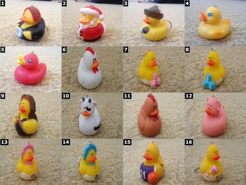 Rubber Duck Keychains  Cute Rubber Ducky  SELECT ONE image 0