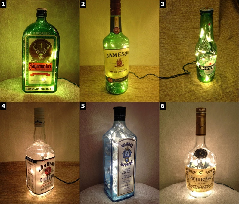 Alcohol Lighting Bottle Lamps  SELECT ONE image 0