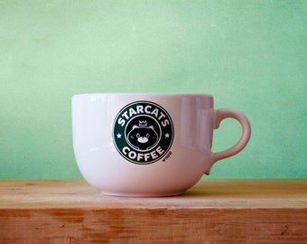 Cat Coffee Mug Starcats Kitty style by Paopao