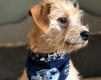 Large Dallas Cowboys Retro Dog Bandana