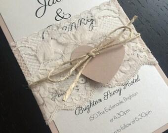 Sweet Soirée Wedding Invitation