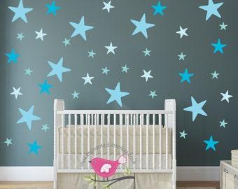 Babykamer Behang Sterren : Sterren stickers kinderkamer muur stickers roze baby decor etsy