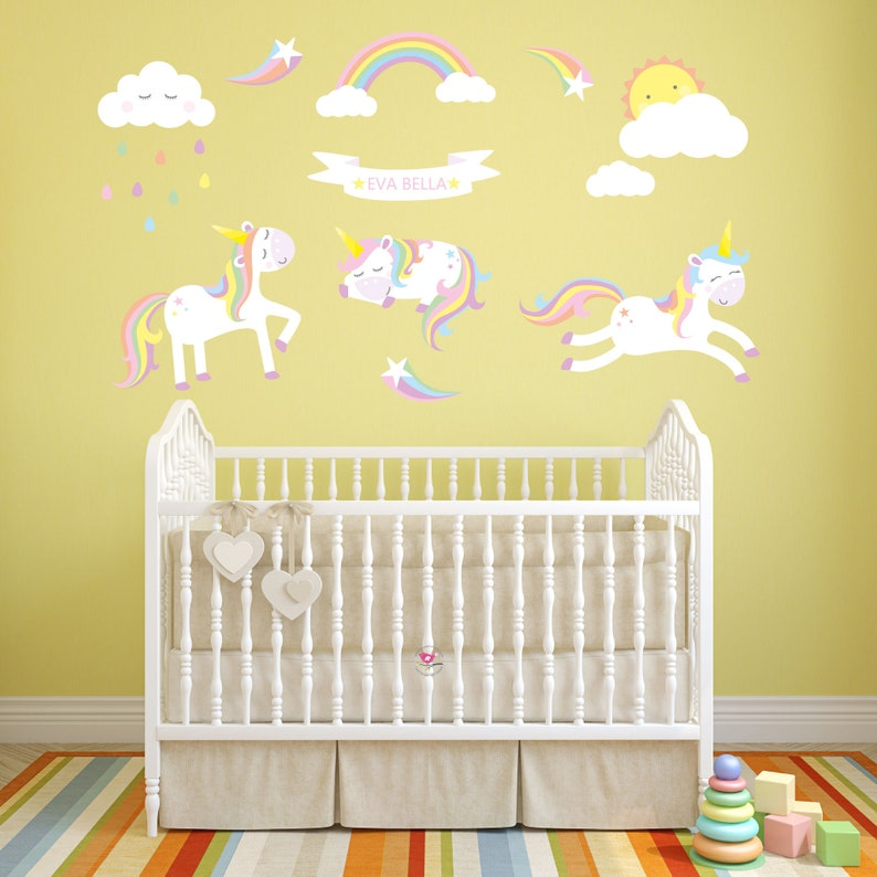 Sunny My Little Pony Alphabets Removable Wall Stickers Kids Nursery Girls Decor Gift Wall Décor
