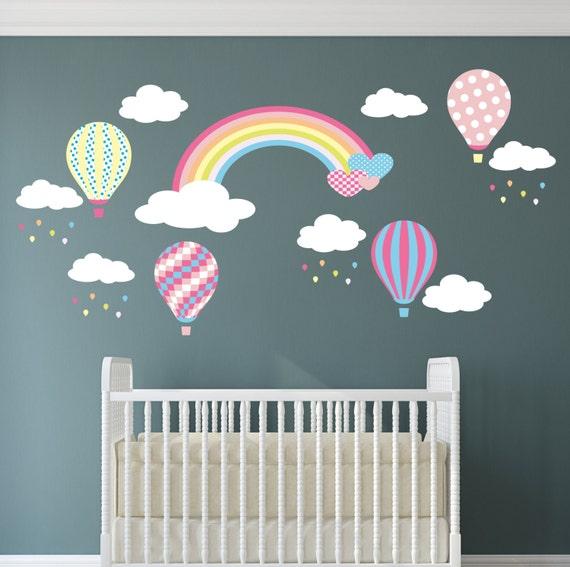 Regenbogen baby wandtattoo hei luft ballon wand sticker etsy - Wandtattoo ballon ...