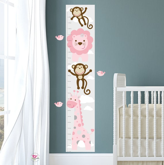 Jungle Growth Chart Decal Height Chart Personalized For Etsy