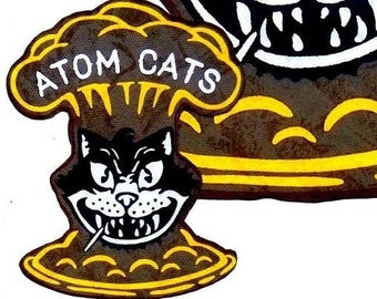 6b63a2ce1ad Fallout 4 Atom Cats - Back Patch   3 small Front Pocket Arm Logos +111s  Cosplay