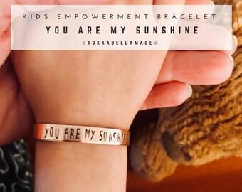 YOU ARE MY SUNSHiNE Toddler Bracelet for Kid Bracelet for Little Girl Bracelet Special Message Daughter from Mother to Son