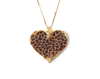 16.5\u201d Chain Jewelry Gifts for Women Afro Creole Necklace \u2013 Gold Plated on Sterling Silver Pendant with Handmade Mosaic Pattern Backdrop