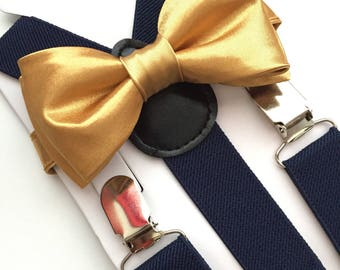 gold navy soft gold suspenders soft gold glitter suspenders gold glitter suspenders gold suspenders kids navy bow tie navy and gold
