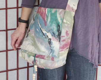 9decb52a117f Handmade Slouchy Crossbody Tote with Wide Strap and Pockets