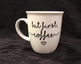 Coffee Cup Decal Coffee Mug Decal Coffee Cup Sayings Etsy