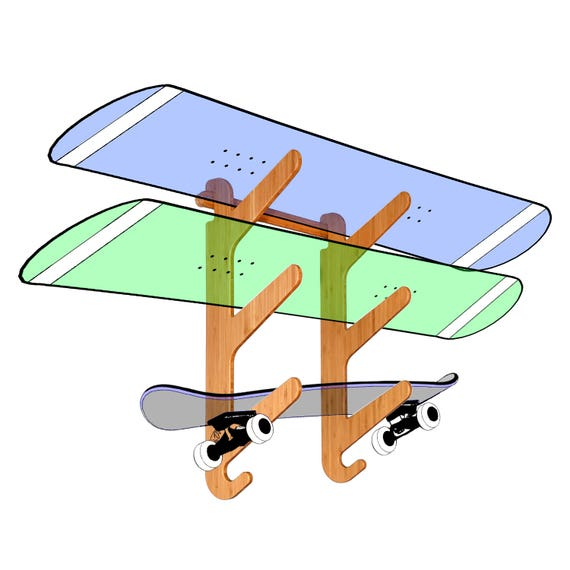 ShredPad Portable Board Display Stand Skateboard Snowboard Vertical Wall Rack /& Mat Indoor Storage System for Surfboard
