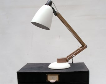 Vintage Industrial Retro Table Lamp Maclamp Angelpoise White Lamp