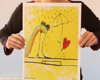 IMPRESIÓN DIGITAL. Ilustración.Lámina.Pintura. Arte. Decoración. Pared. Hogar. Cuarto niños. Infantil. Cuadro.