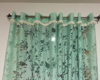 Robin blue Curtain