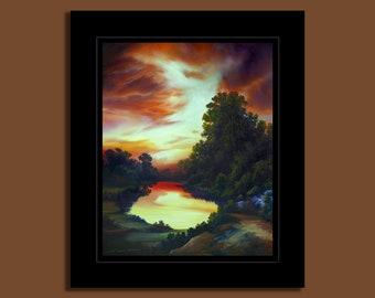 Lake Multrie at Sunset
