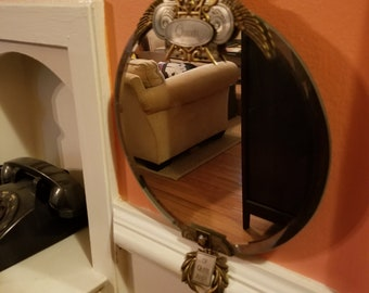 """The Queen"""" - Original Mirror - Hand Created One of a kind Design - 10"""" diameter"""