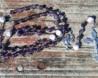 Amethyst Catholic Rosary Beads