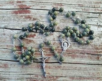 Catholic Rosary Beads Jasper