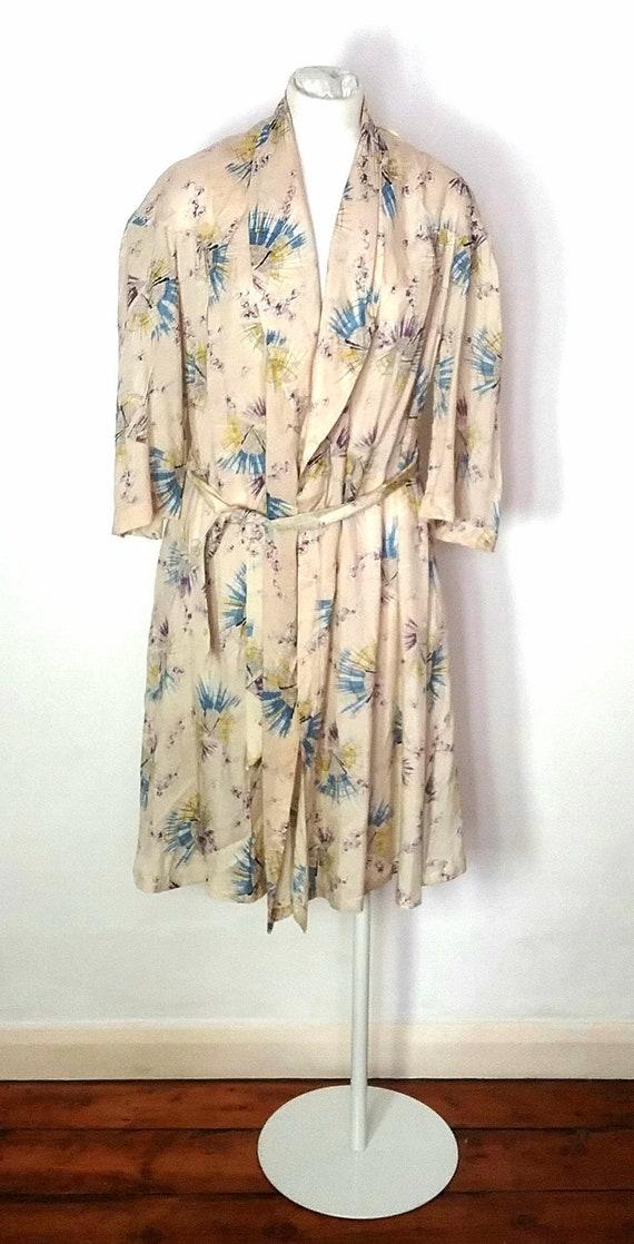 1930s Silk Print Robe